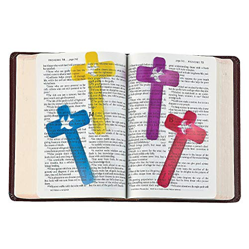 - Fun Express Cross-Shaped Ruler Bookmarks - Sunday School & Stationery - 48 Pieces