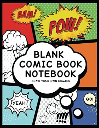 blank comic book notebook create your own comic book strip variety of templates for comic book drawing super hero comics professional binding