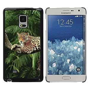 KOKO CASE / Samsung Galaxy Mega 5.8 9150 9152 / árboles leopardo árbol de la selva de la selva tropical de grandes felinos / Delgado Negro Plástico caso cubierta Shell Armor Funda Case Cover