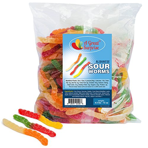 Gummy Worms Bulk - Gummi Worms Sour - Sour Gummies - Bulk Candy 4.5 LB
