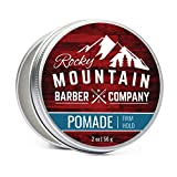 Pomade for Men – 2 oz Size - Classic Styling Product - Made in Canada with Strong Firm Hold for Side Part, Pompadour & Slick Back Looks – High Shine & Easy to Wash Out – Water Based