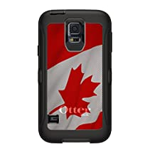CUSTOM Black OtterBox Defender Series Case for Samsung Galaxy S5 - Red White Canadian Flag Canada
