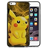 Iphone 6 6S Case,Pokemon Popular Cute And Funny Pikachu 33 Black Iphone 6 6S Screen Phone Case Fashion and Newest Design
