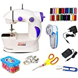 Regrid Plastic Portable Electric Sewing Machine with Lint Remover and Accessories(White, Small)