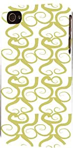 Green Swirls Pattern Dimensional Case Fits Apple iPhone 5 or iPhone 5s