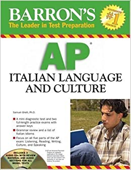 Book Barron's AP Italian Language and Culture: with Audio CDs by S. Ghelli [Paperback(2008/2/1)]