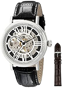 "Stuhrling Original Men's 168S.33151 ""Classic"" Stainless Steel Automatic Watch with Leather Band"
