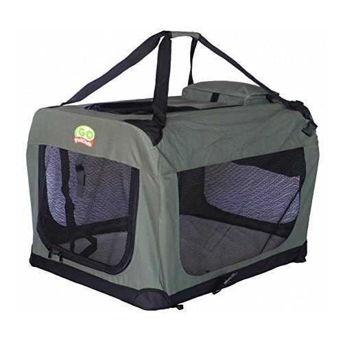 Go Pet Club Dog Pet Soft Crate, 40-Inch, Sage