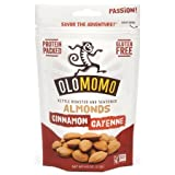 crock cheese - OLOMOMO Cinnamon Cayenne Kettle-roasted Almonds: Protein-packed, Gluten Free, Organic Ingredients, Non-GMO, Healthy Snack packs