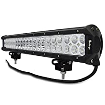 "Safego 20"" inch 126W Led Light Bar Combo Offroad Car Trucks ATV 4X4 Tractor Jeep Spot Flood Beam Bumber Roof Driving Fog Lights C126W-Combo"