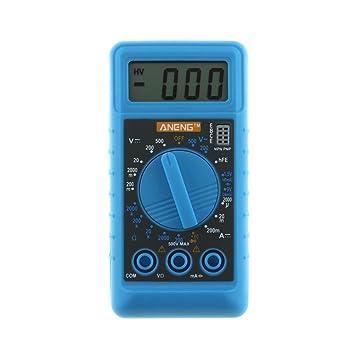 LtrottedJ ANENG Mini Digital DMM LCD Multímetro voltímetro, Ohmmeter Amperímetro: Amazon.es: Bricolaje y herramientas