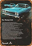 9 x 12 METAL SIGN - 1968 Plymouth Road Runner - Vintage Look Reproduction