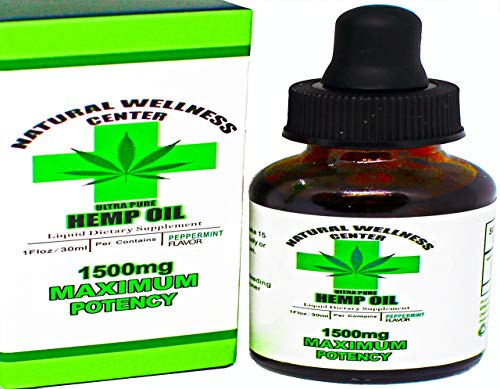 1500mg Hemp Oil for Pain Relief - Stress Support, Anti Anxiety, Sleep Support - Herbal Drops - Rich in MCT Fatty Acids - Natural Anti Inflammatory - Maximum Strength - Organic and Keto Friendly -
