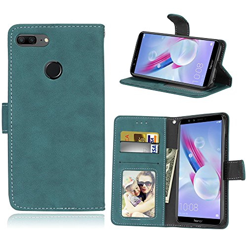 Huawei Honor 9 Lite Case, Lifeepro Flip Cover [Kickstand] PU Leather Wallet Case With ID&Credit Card Pockets For - Blue ()