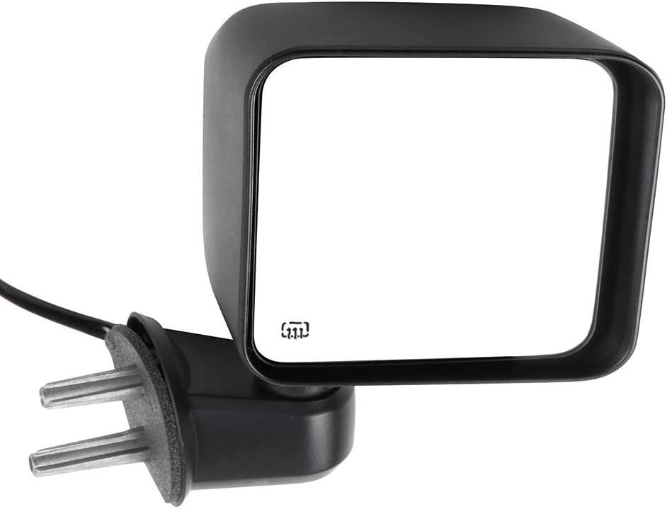 cciyu Exterior Passenger Side Mirror With Power Adjustment Manual Folding Heated Fit For 2007-2017 Jeep Wrangler