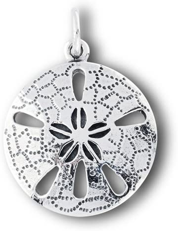 New .925 Sterling Silver Sand Dollar Pendant Charm