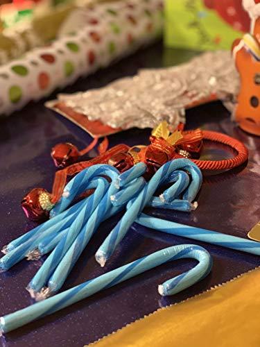 Brachs Blue BlueBerry Valentines Candy Canes - 100 Pcs -