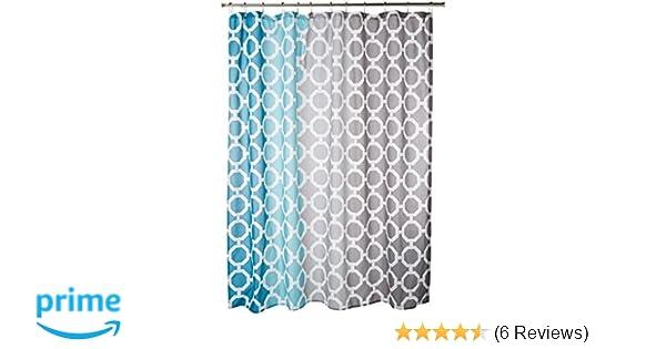 Amazon 90 By Design Lab DES70 006 Dani Printed Shower Curtain Hook Set 72 X Teal Home Kitchen