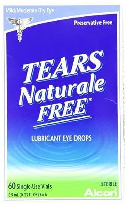 Tears Naturale Free Lubricant Eye Drops, 60 Single-Use Vials