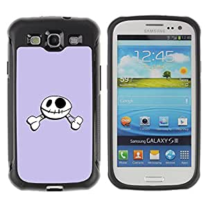 Pulsar Defender Series Tpu silicona Carcasa Funda Case para SAMSUNG Galaxy S3 III / i9300 / i747 , Funny Happy Skull Smiley