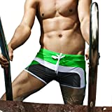 Zengvee Men's Surfing Swimwear Sexy Swim Trunk L Gray/Green