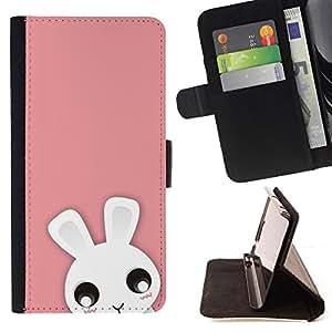 BullDog Case - FOR/Samsung Galaxy A3 / - / Cute Pink Animal /- Monedero de cuero de la PU Llevar cubierta de la caja con el ID Credit Card Slots Flip funda de cuer