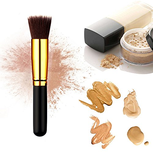 Makeup Brush, AKEDRE 14pcs Premium Synthetic Kabuki Foundation Face Powder Blush Eyeshadow Brushes Eyeliner brush Eyelash brush Makeup Brush Kit with Brush Egg (13+1pcs,,Black/Gold)