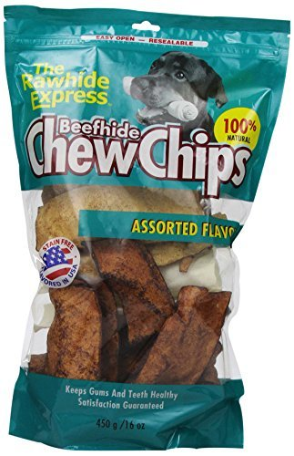 The Rawhide Express Assorted Flavors Strips/Chips Dog Chew, 1-Pound by The Rawhide Express