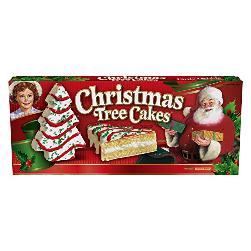 Christmas Cakes - Little Debbie Christmas Tree Cake Vanilla Pack of 4