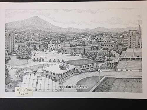 Appalachian State University 11x17 Panorama Print by Campus Scenes