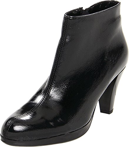 La Canadienne Vrouwen Megan Boot Zwarte Kreuk Patent