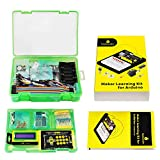 KEYESTUDIO Electronics Maker Starter Kit Breadboard Components Relay Motor IR Remote PIR Sensor 1620LCD etc.for Arduino Controller R3 Board Projects STEM Kit with Tutorial for Adults Education