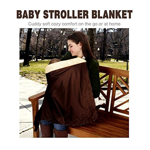 HILTOW Baby Comfort Stroller Weather Shield/Waterproof Stroller Warm Blanket Cover fit winter by Hiltow (Image #3)