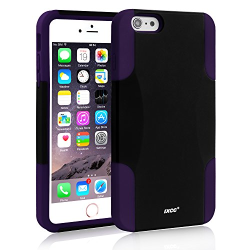 [Three Layer] iPhone 6 Plus / 6s Plus Case, iXCC Kickstand Holster Belt Clip Shockproof Case Cover with Soft Silicone Lining and Hard PC Back - Purple Photo #5