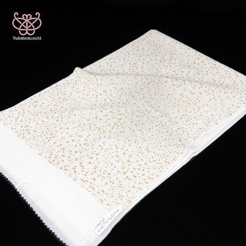 ●金彩?吹雪柄-ちりめん帯揚げ 絹100% 白系[30070075]