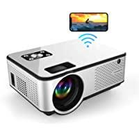 """MOlecule C9 Mini Projector Wireless Screen Mirroring 1080P Full HD Support Indoor Outdoor Home Theater 200"""" Portable…"""