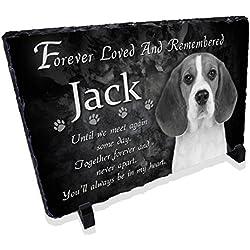 Redeye Laserworks Personalized Dog Memorial Prayer Stone Plaque from