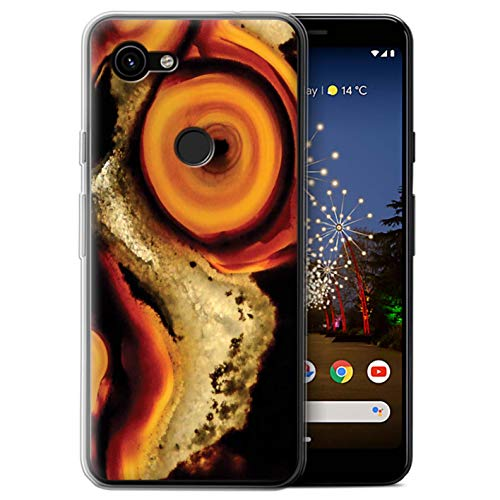 eSwish Gel TPU Phone Case/Cover for Google Pixel 3a XL/Fire Agate Zest Design/Modern Vibrant Collection