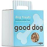 Sojos Good Dog Crunchy Natural Dog Treats, Blueberry Cobbler, 8-Ounce Box