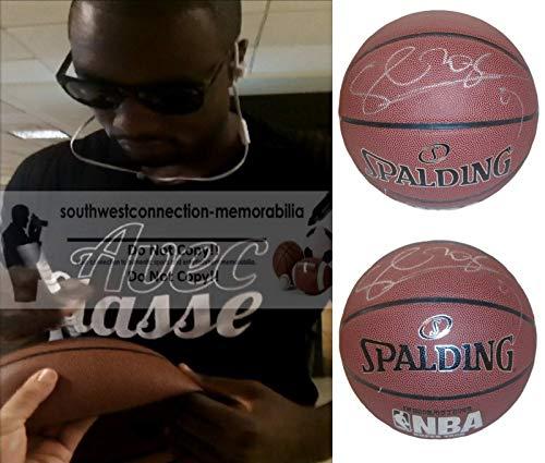 (Toronto Raptors Serge Ibaka Autographed Hand Signed NBA Spalding Basketball with Exact Proof Photo of Signing and COA, Orlando Magic, Oklahoma City Thunder, Seattle Supersonics)