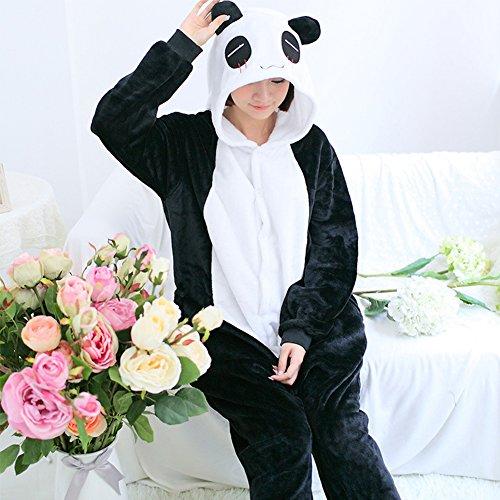 Pijama Negro cosplay Vestuario Animal Disfraces flanela Fuweiencore De Dormir Panda ropa ada4Uw