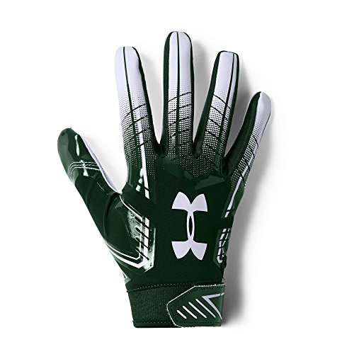 Under Armour Men's F6 Football Gloves, Forest Green (301)/White, Small/Medium (Under Armour Football Uniforms)