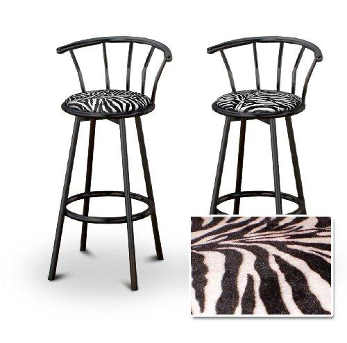 zebra print barstools
