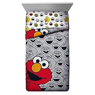 Jay Franco Sesame Street Elmo Hip Twin Comforter - Super Soft Kids Reversible Bedding - Fade Resistant Polyester Microfiber Fill (Official Sesame Street Product)