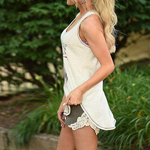 Canottiera Camicetta Camicie Canotte Tops Senza Donna Vest Piuma in Bianca Top Blouse BeautyTop Tinta Maniche Maglietta Unita da T Estive Shirt Canotte Casual dXqn8wdxZ