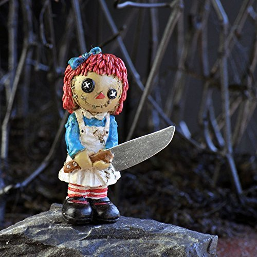 Georgetown Home and Garden Psycho Rag Doll Miniature Halloween Fairy Garden Accessory -