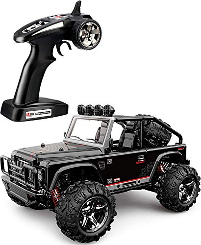 (TOZO C1155 RC CAR Battleax High Speed 30km/h 4x4 Fast Race Cars 1:22 RC Scale RTR Racing 4WD Electric Power Buggy W/2.4G Radio Remote Control Off Road Powersport Black)