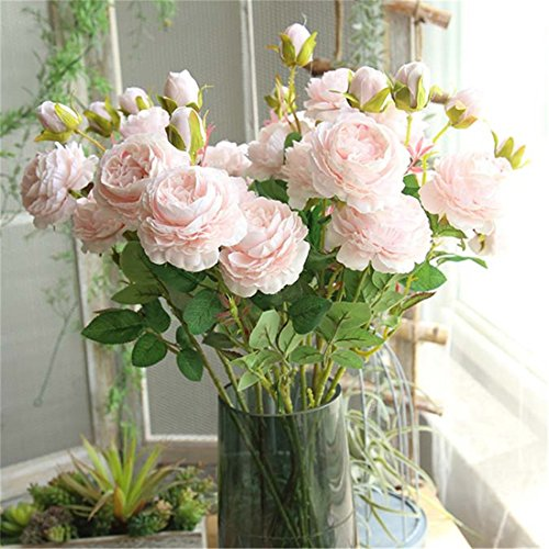 papasgjx Silk Artificial Flowers Fake Rose Flower Simulation, used for sale  Delivered anywhere in USA