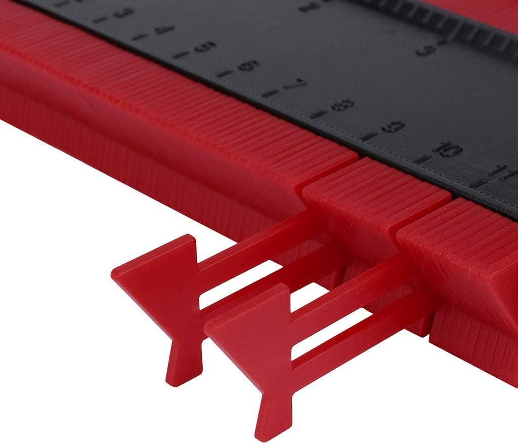 EnjoCho Shape Contour Gauge Duplicator Profile Measuring Tool Contour Duplication Gauge Contour Template Plastic Contour Copy Duplicator A