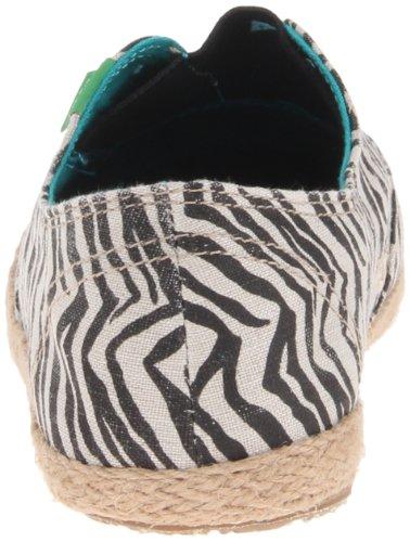 Sanuk Womens Runaround Jute Flat Zebra